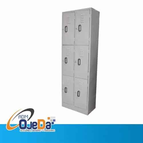 Lockers Metálicos 6 compartimientos